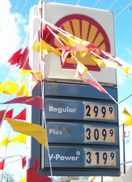 Regular unleaded at $2.999 at the Kapaa Shell station
