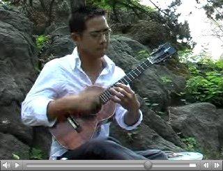 Jake Shimabukuro wailing on the ukulele